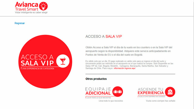 Sitio web avianca travel smart 03