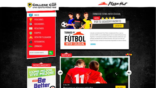 Sitio web college cup 01