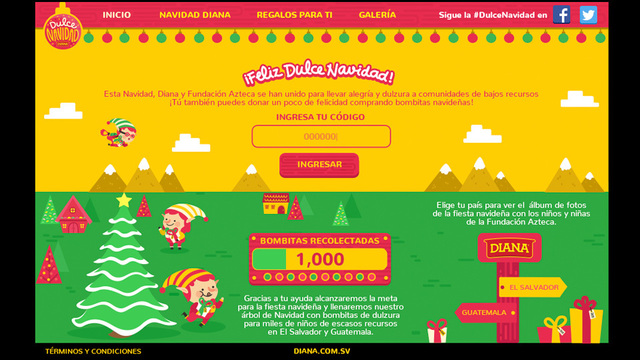 Sitio web dulce navidad diana 01