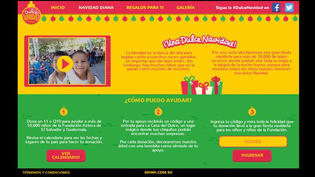 Sitio web dulce navidad diana 02
