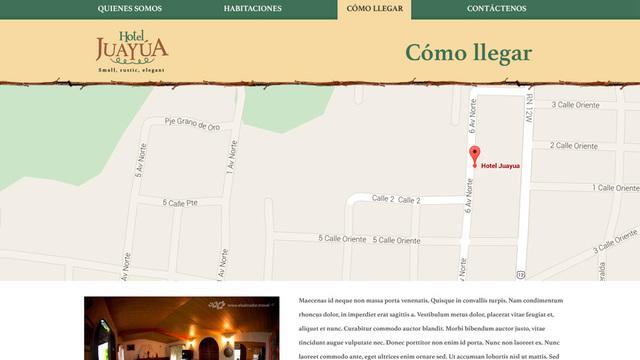 Sitio web hotel juayua 03