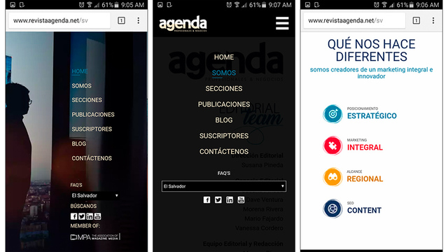 Sitio web revista agenda 04
