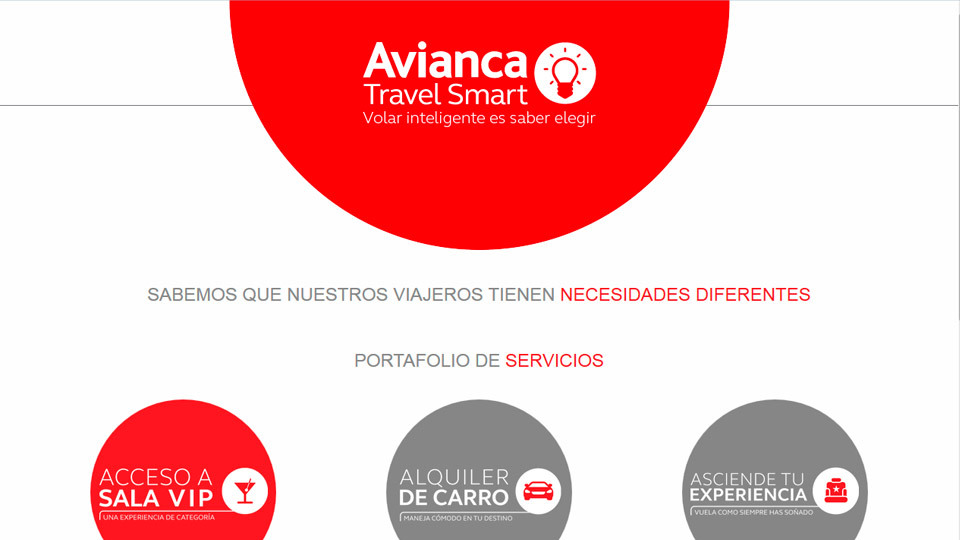 Sitio web avianca travel smart 01